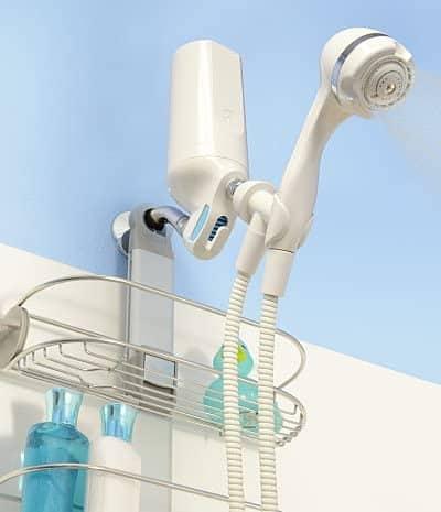 Install shower filter on bathroom