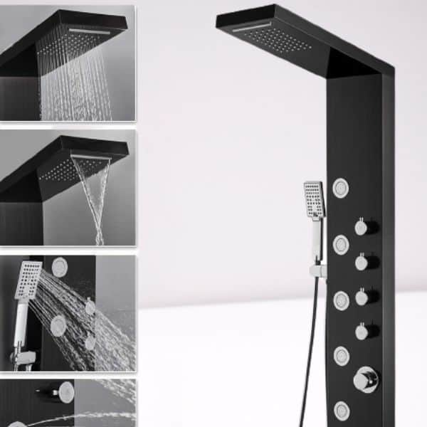 A shower head with shower panels