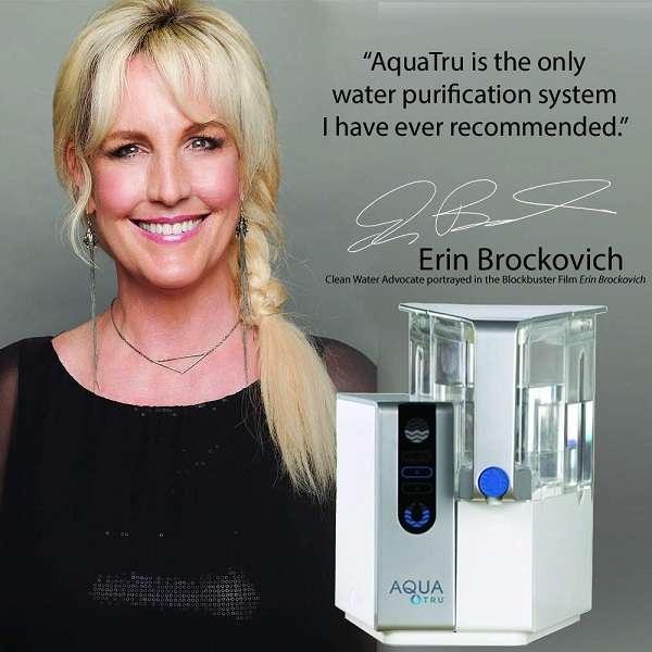 Erin Brockovich endorsing AquaTru water filter