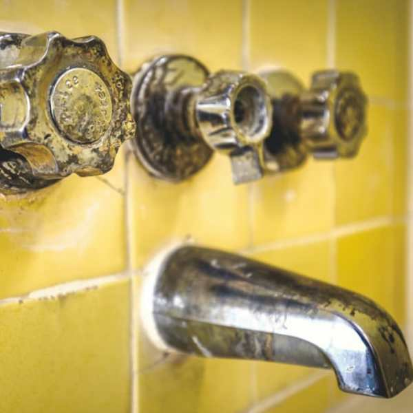 Hard water that can e classified from the faucets