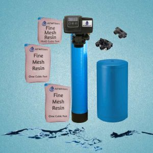 Water softener with water background