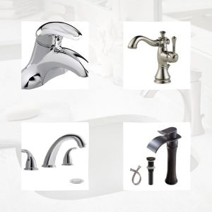 Five types of faucets in the frame