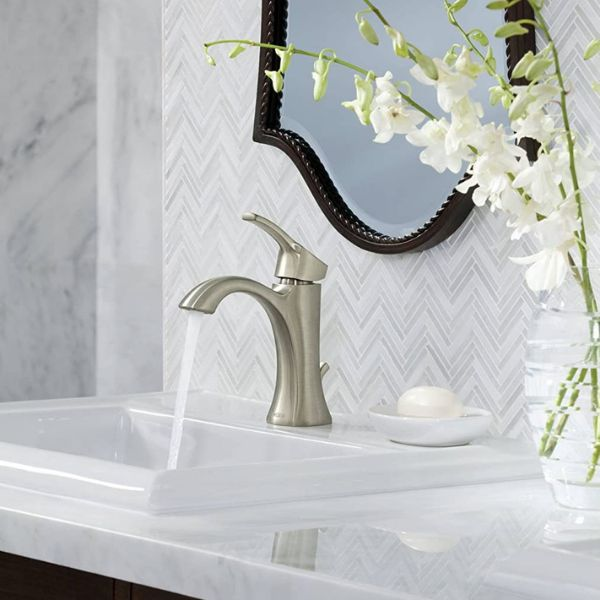 One of the best bathroom faucet installed in a sink
