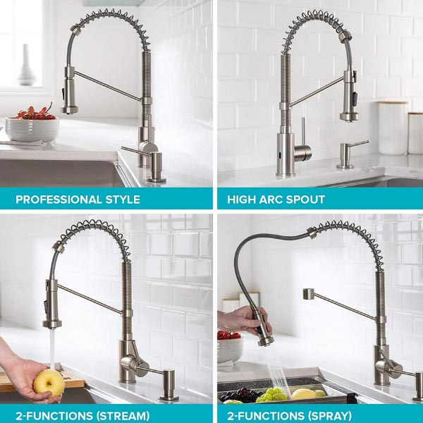 One of the best touchless kitchen faucets features and benefits