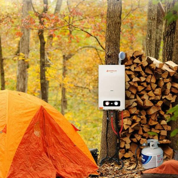 One of the best propane tankless water heater in an outdoor camp