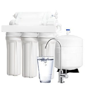 Reverse osmosis machine and a newly removed flouride glass of water